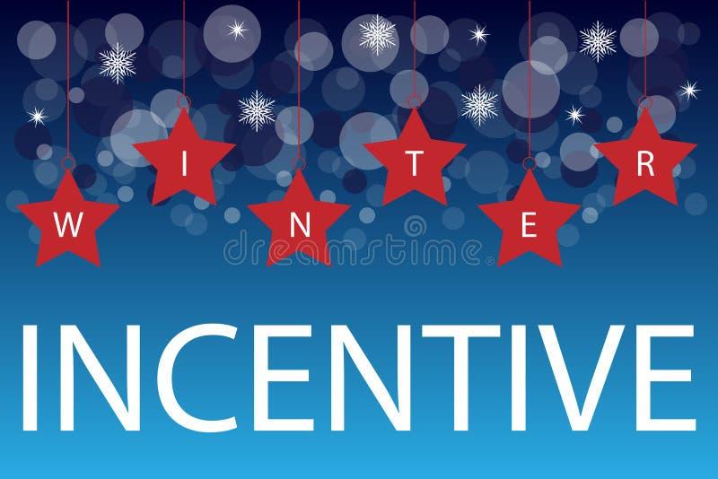 Fondo del incentivo del invierno stock de ilustración