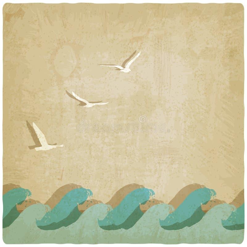 Fondo del infante de marina del vintage libre illustration