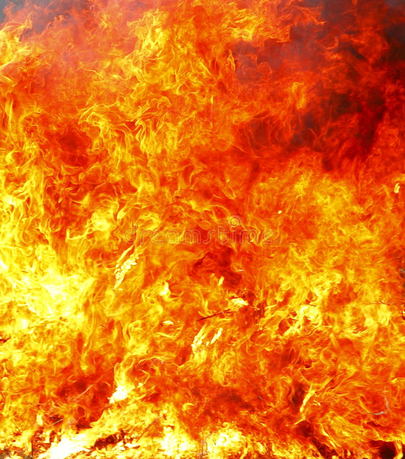 Fondo del infierno del fuego