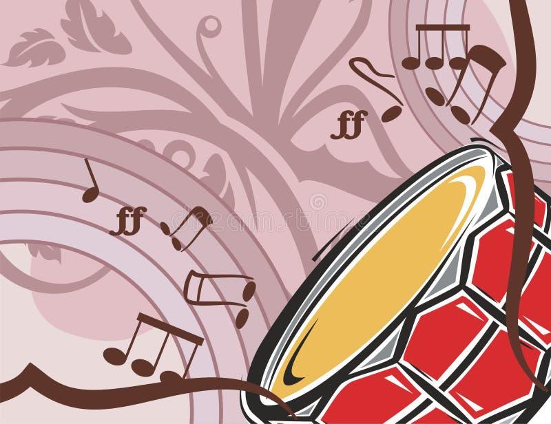 Fondo del instrumento de música ilustración del vector