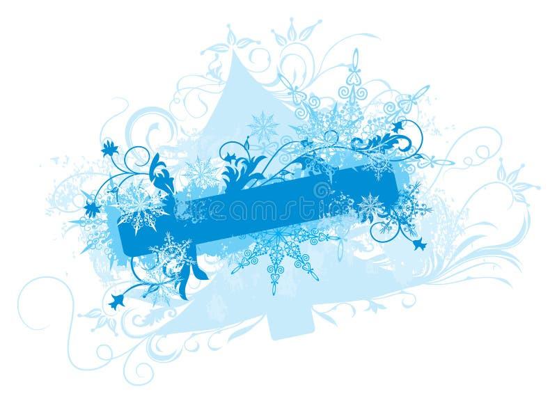 Fondo del invierno,   ilustración del vector