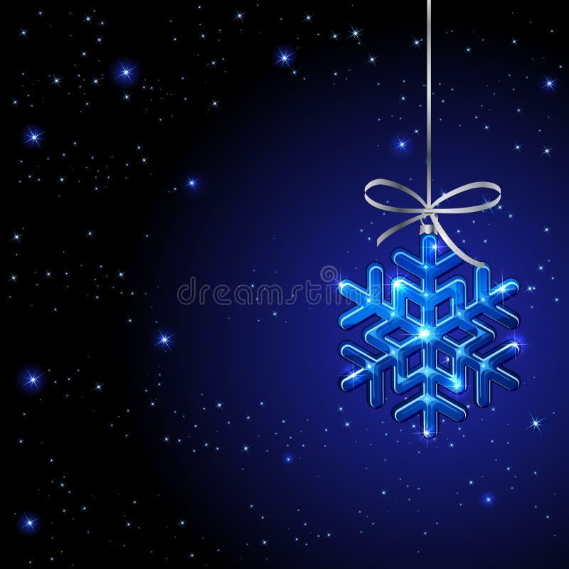 Fondo del invierno con el copo de nieve libre illustration