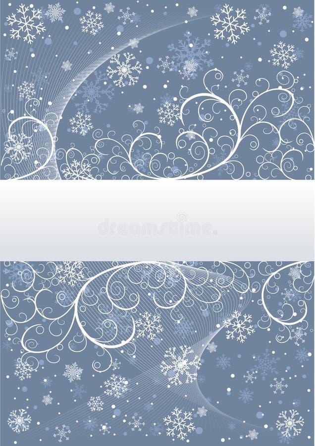 Download Fondo Del Invierno Con Los Copos De Nieve Ilustración del Vector - Ilustración de bandera, frío: 7289988