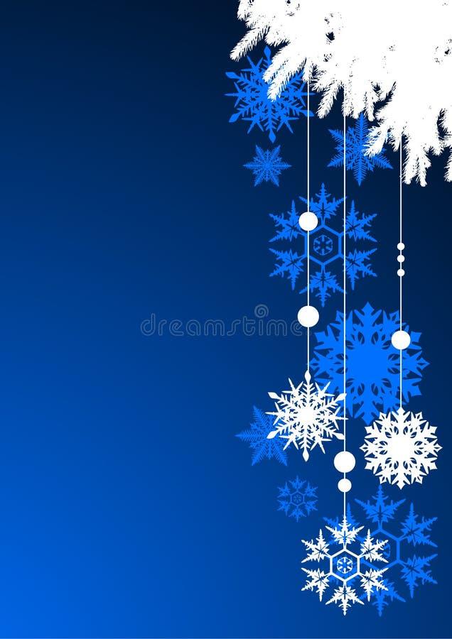 Download Fondo Del Invierno, Copos De Nieve Ilustración del Vector - Ilustración de cristal, decorativo: 7283032