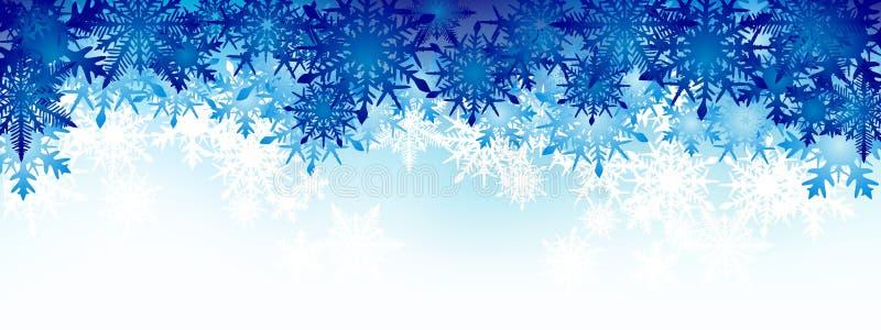 Fondo del invierno, copos de nieve - ejemplo del vector foto de archivo libre de regalías