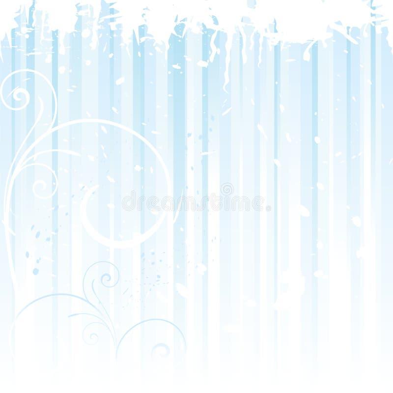 Fondo del invierno de Grunge en azul claro ilustración del vector