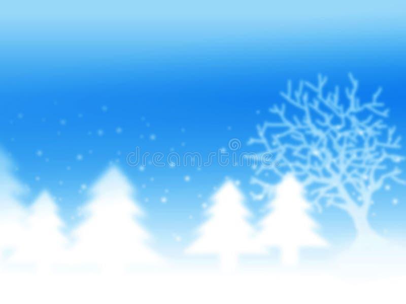 Fondo del invierno de la Navidad stock de ilustración