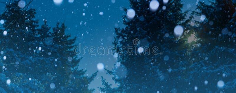 Fondo del invierno de la Navidad del arte; paisaje nevoso foto de archivo libre de regalías