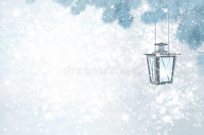 Fondo del invierno de la Navidad del vector libre illustration