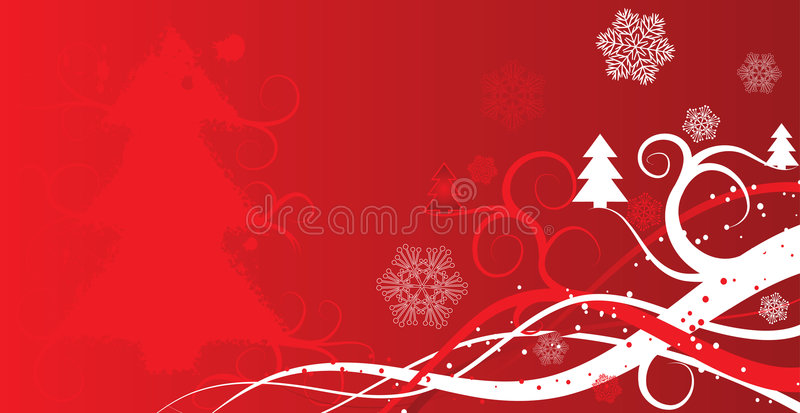 Fondo del invierno de la Navidad, vector stock de ilustración