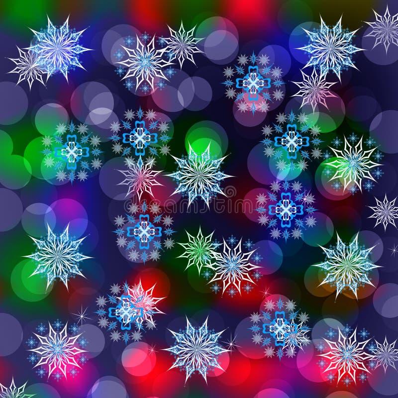Fondo del invierno de los días de fiesta ilustración del vector