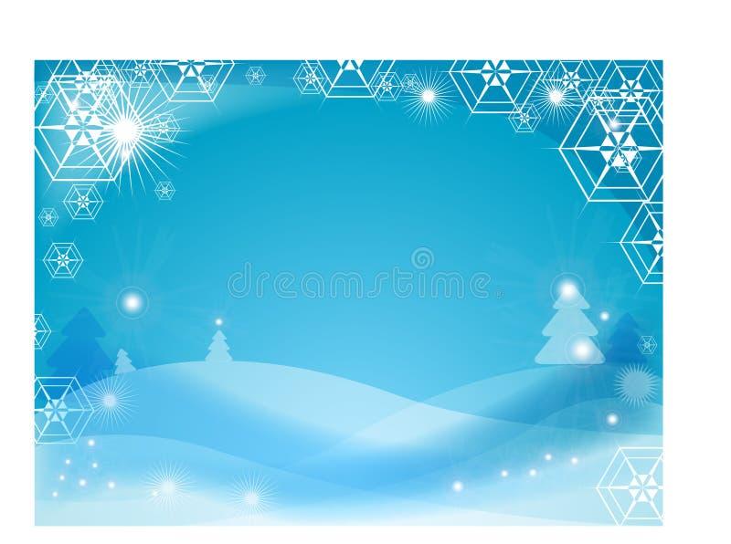 Fondo del invierno del copo de nieve stock de ilustración