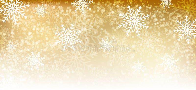 Fondo del invierno del oro libre illustration