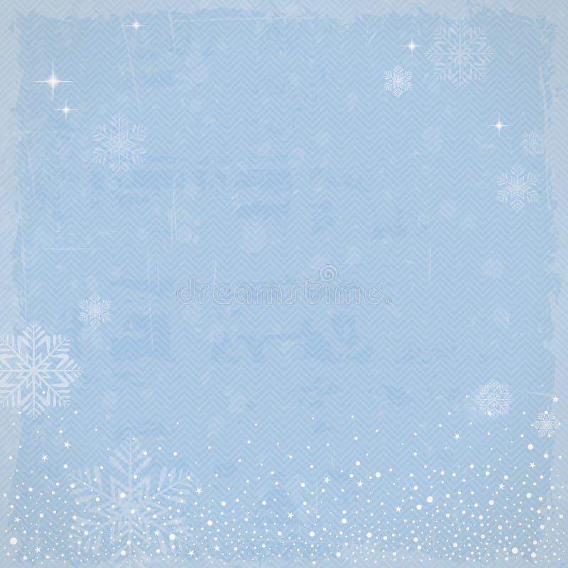 Fondo del invierno del vintage stock de ilustración