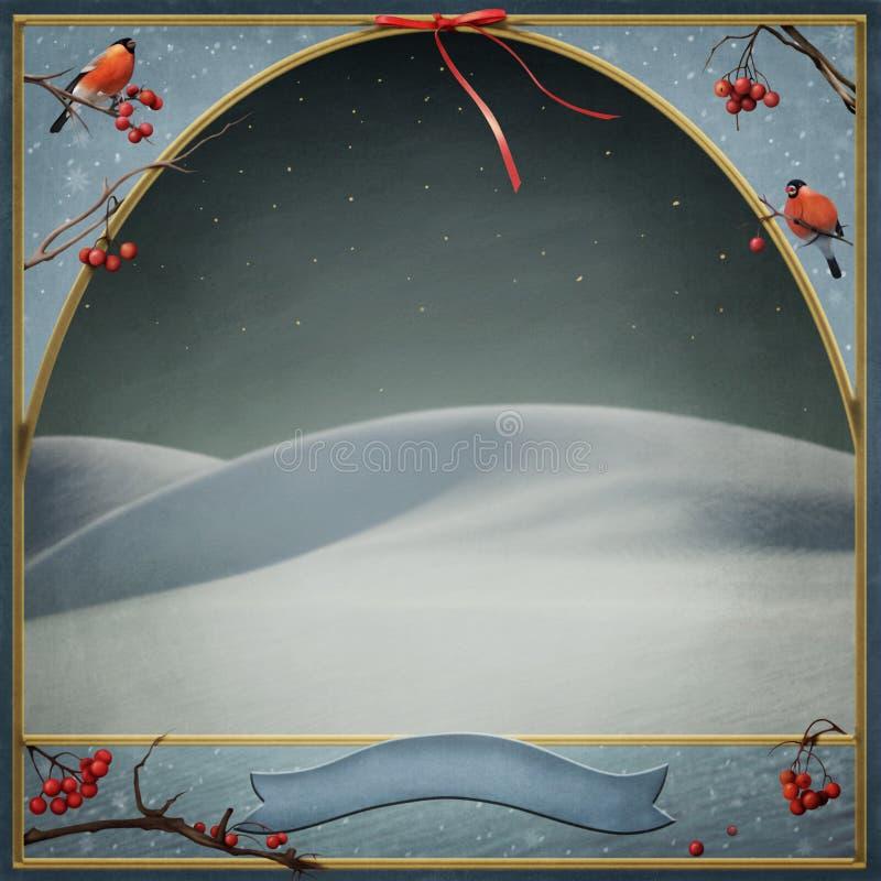 Fondo del invierno para saludar el Año Nuevo o el Chr stock de ilustración