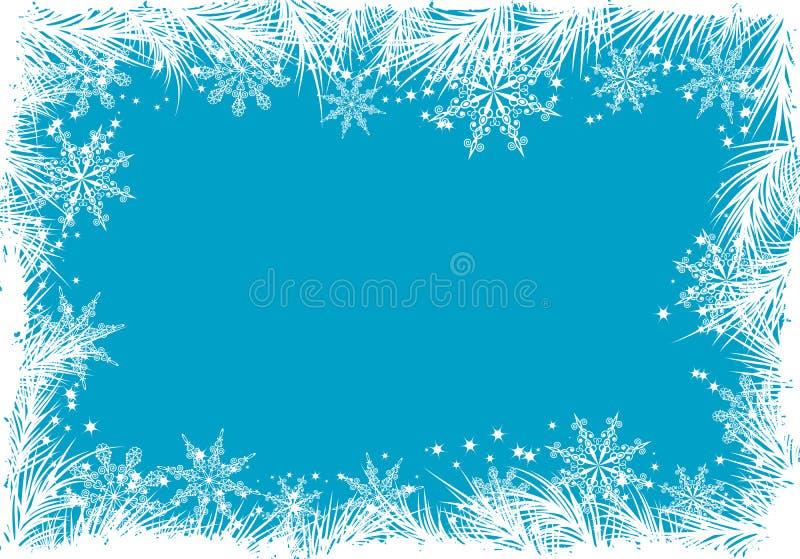Fondo del invierno, vector ilustración del vector