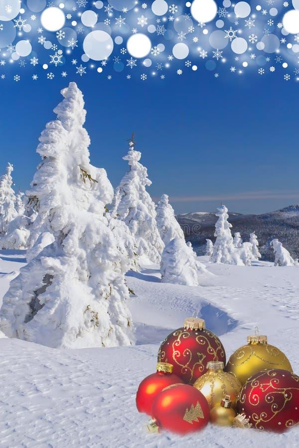 Fondo del invierno y de la Navidad libre illustration