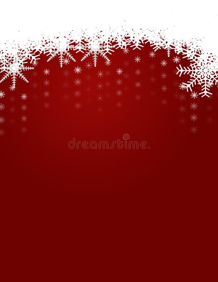 Fondo del invierno y de la Navidad con los copos de nieve libre illustration