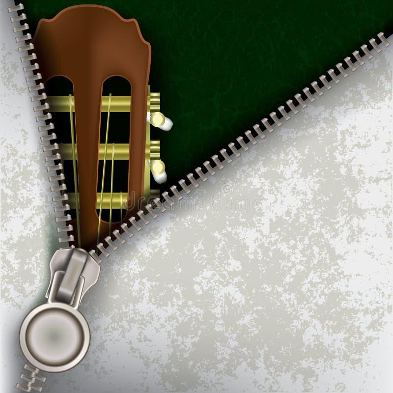 Download Fondo Del Jazz Con La Guitarra Y La Cremallera Abierta Ilustración del Vector - Imagen: 21412373
