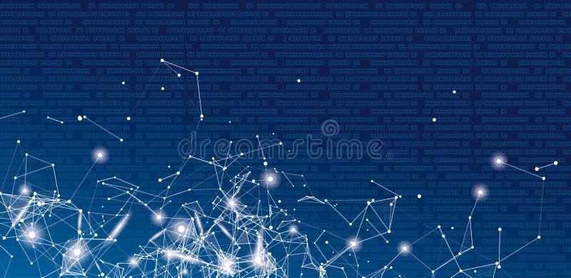 Fondo del jefe del extracto de la red de datos ilustración del vector