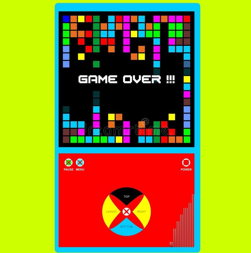 Fondo del juego con las cajas coloridas stock de ilustración
