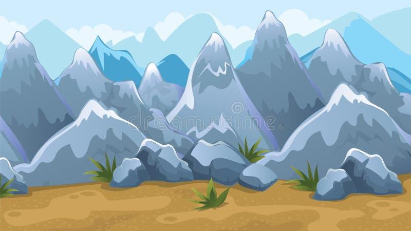 Fondo del juego de las montañas stock de ilustración
