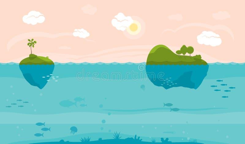 Fondo del juego del mar stock de ilustración