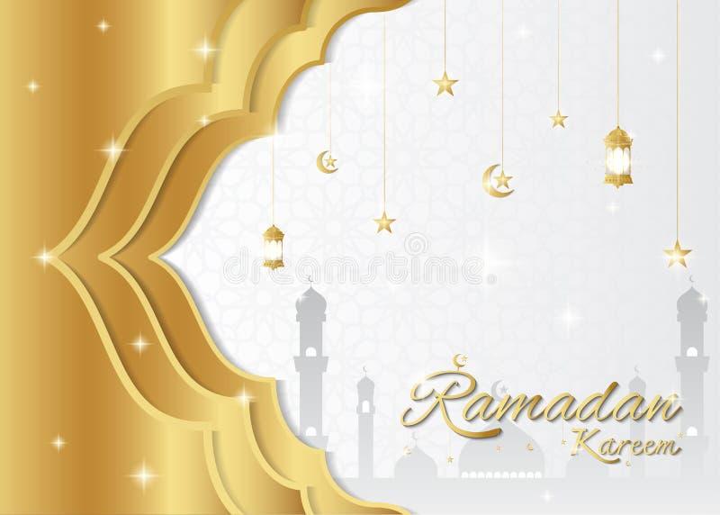 Fondo del kareem del Ramadán, concepto de diseño superior stock de ilustración