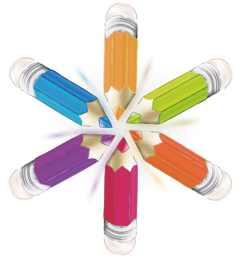 Fondo del lápiz stock de ilustración