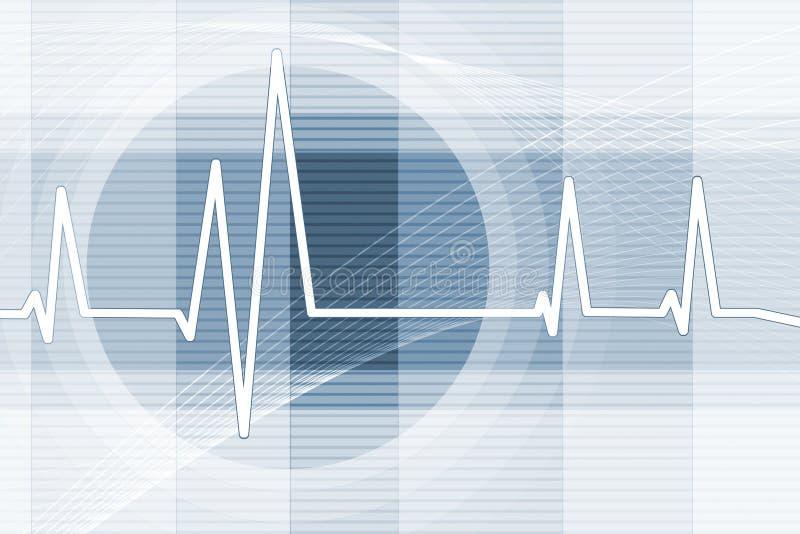 Fondo del latido del corazón stock de ilustración