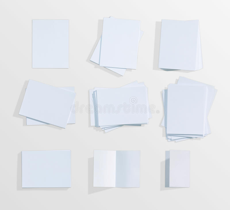 Fondo del Libro Bianco sull'isolato su fotografia stock