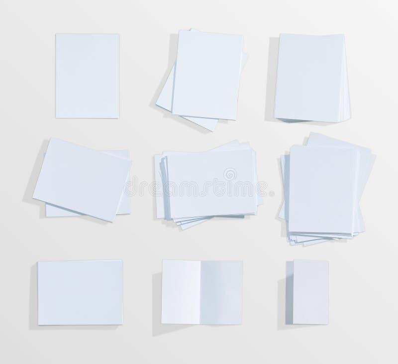 Fondo del Libro Bianco sull'isolato su immagini stock