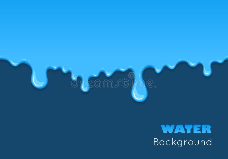 Fondo del liquido del blu di goccia illustrazione vettoriale