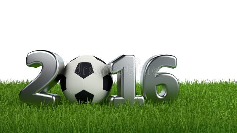 Fondo 2016 del manifesto della coppa del Mondo di calcio illustrazione vettoriale