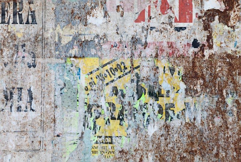 Fondo del manifesto strappato lerciume immagine stock