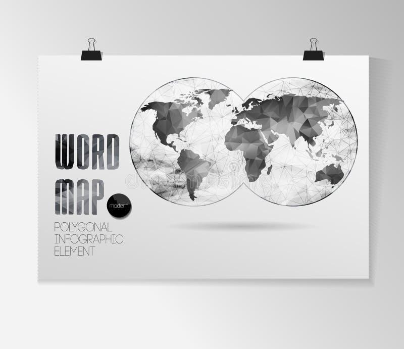 Fondo del mapa del mundo libre illustration