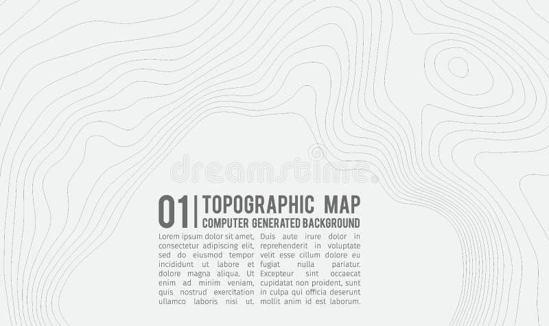 Fondo del mapa topográfico con el espacio para la copia Línea fondo del contorno del mapa de la topografía, extracto geográfico d stock de ilustración