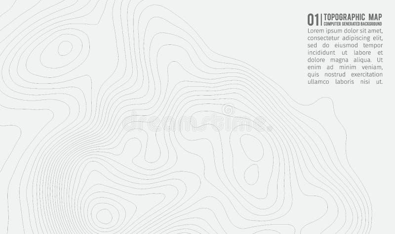 Fondo del mapa topográfico con el espacio para la copia Línea fondo del contorno del mapa de la topografía, extracto geográfico d ilustración del vector