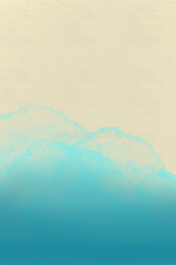 Fondo del mar con el espacio para el texto Paisaje marino - ejemplo ilustración del vector
