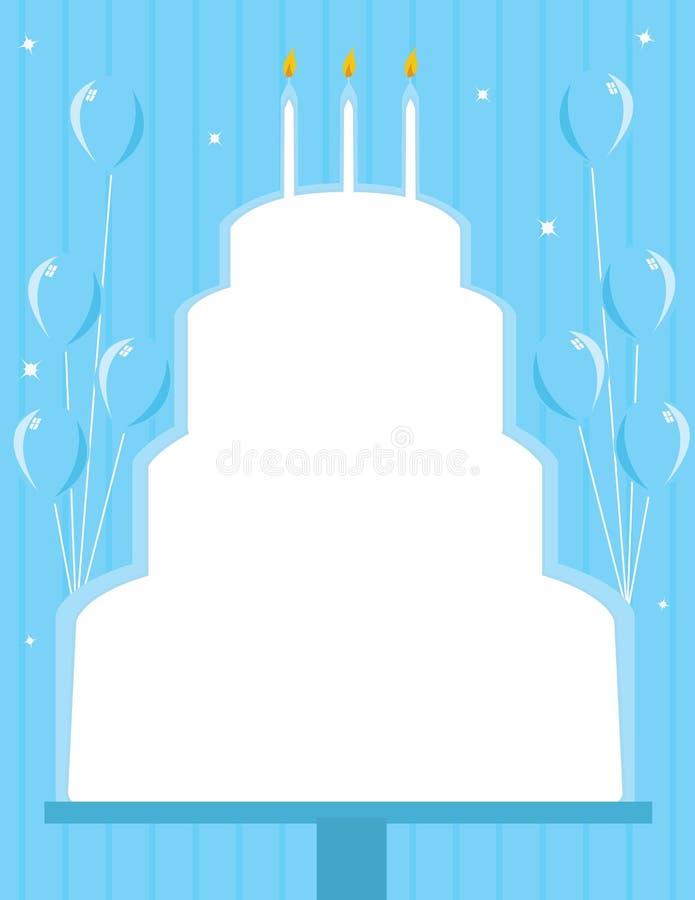 Fondo del marco de la torta de cumpleaños ilustración del vector