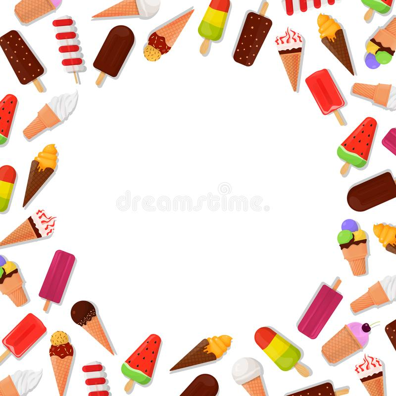 Fondo del marco del helado ilustración del vector. Ilustración de ...