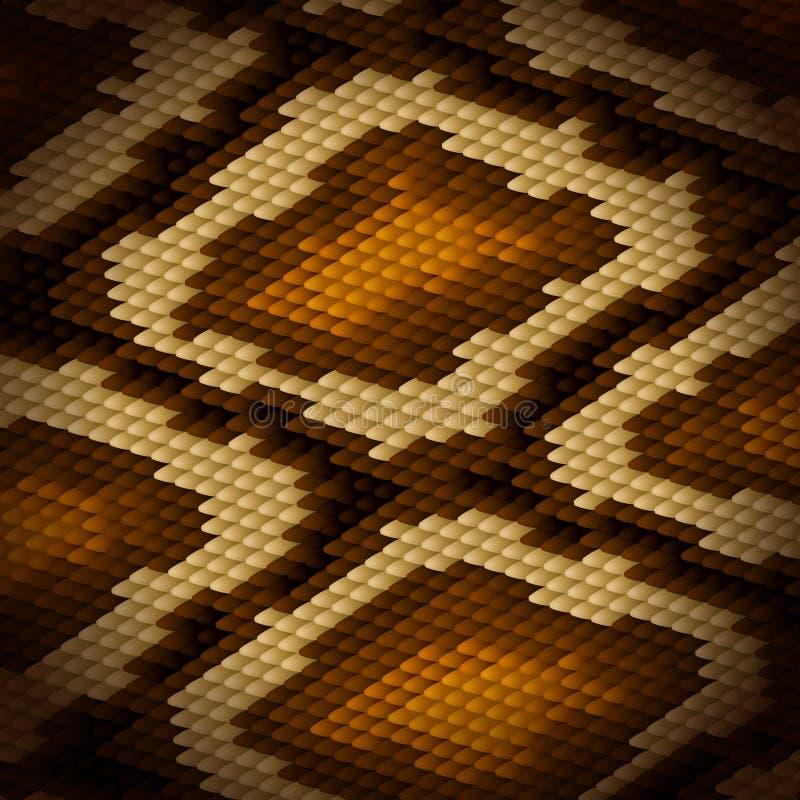 Fondo del marrón de la piel de serpiente de Python Vector stock de ilustración
