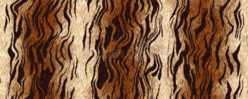 Fondo del material de la piel del tigre del ejemplo de Digitaces stock de ilustración