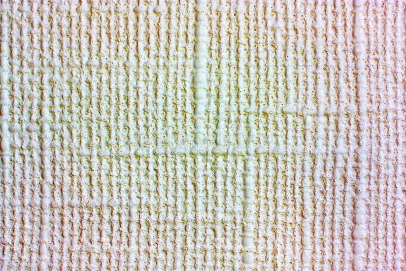 Fondo del material natural, estera decorativa, papel pintado ligero con la textura de lino foto de archivo libre de regalías
