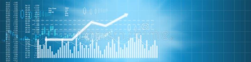 Fondo del mercado de acción del negocio ilustración del vector