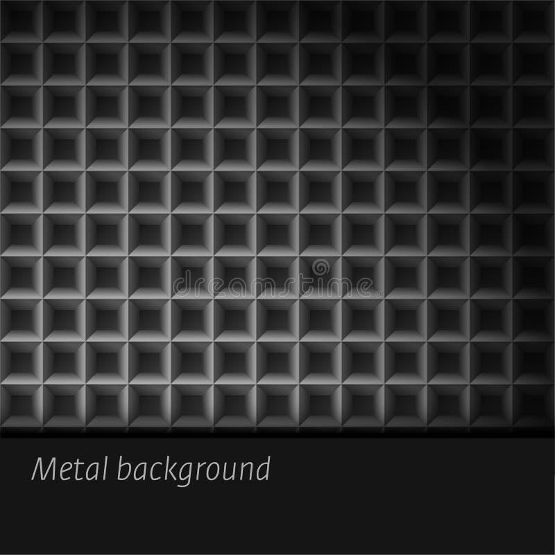 Fondo del metal stock de ilustración
