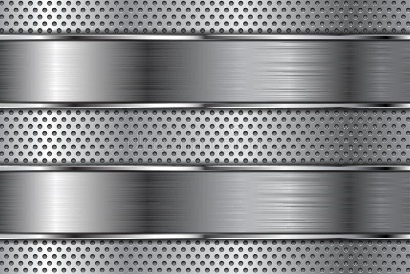 Fondo del metal con la perforación libre illustration