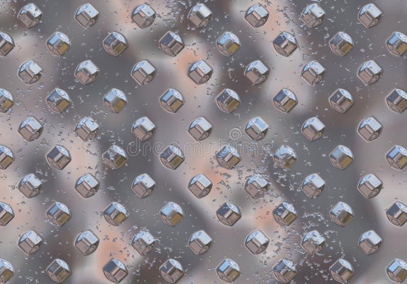 Fondo del metal de Hrome ilustración del vector