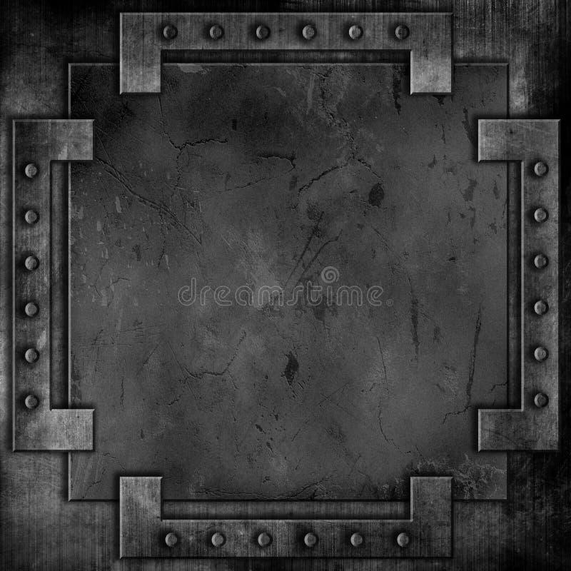 Fondo del metal del Grunge ilustración del vector