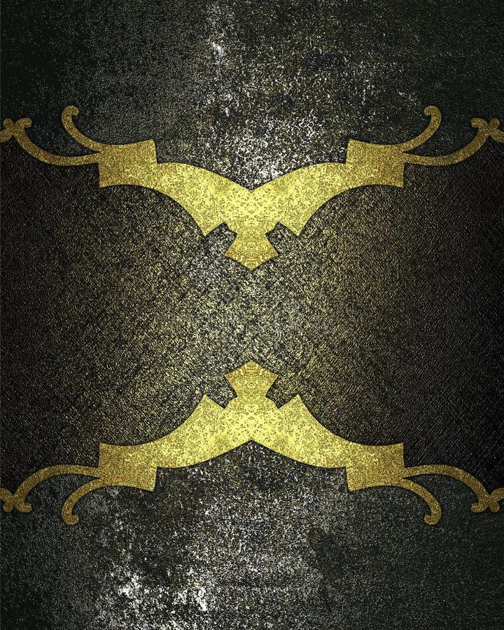 Fondo del metal del Grunge con el marco negro Plantilla para el diseño copie el espacio para el folleto del anuncio o la invitaci ilustración del vector